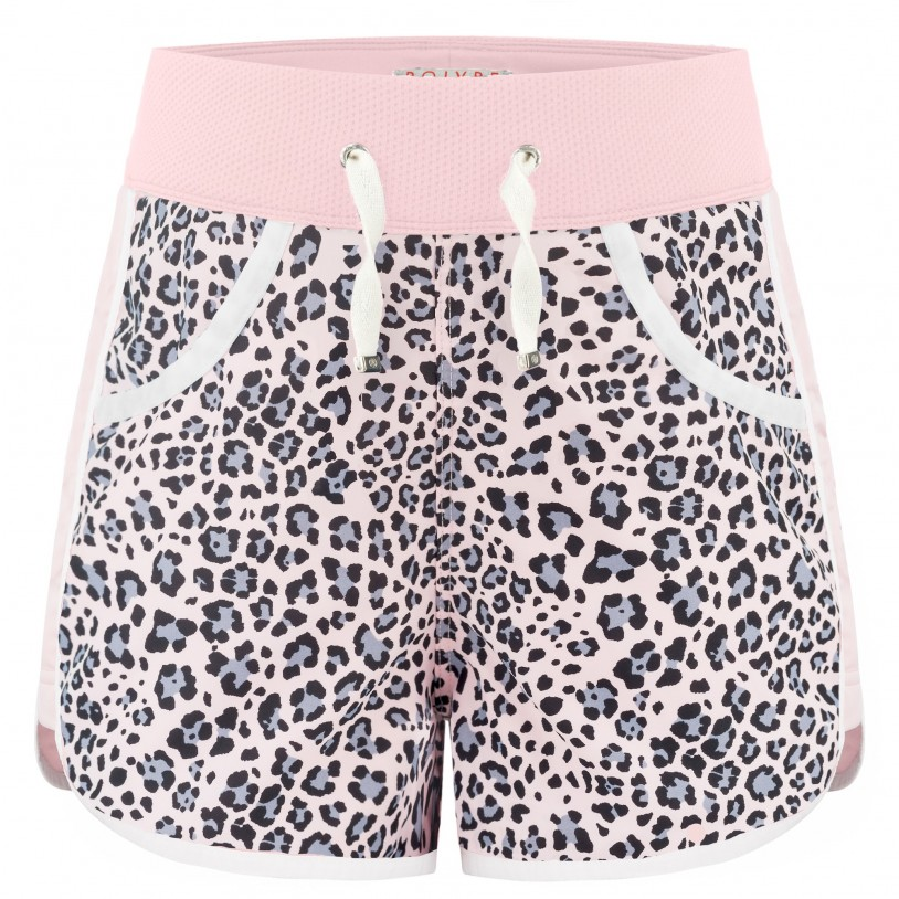 Girls shorts leopard angel pink