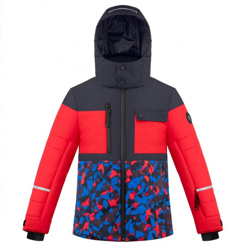 Boys ski jacket Gothic Blue3/Camou Multi