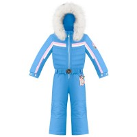 Girls overall multico polar blue