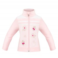Girls fleece jacket multico pink