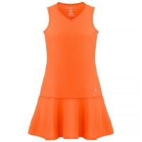 Womens eco light indigo orange dress (recycled)